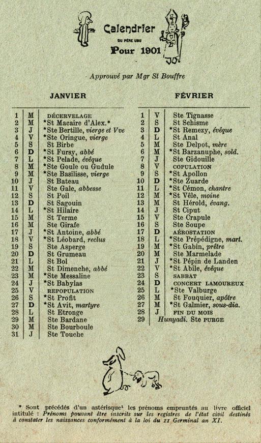 Alfred Jarry, Almanach illustré du Père Ubu (XXo Siècle), 1901